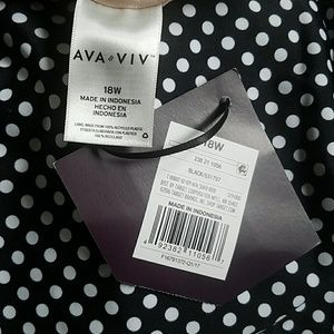 Ava & Viv Swim - Ava & Viv Black White Polka Dot Tankini Top
